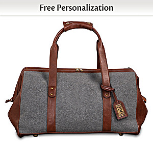 """The Traveler"" Duffel Bag Personalized With Initials"