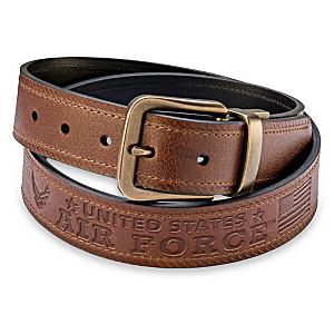 U.S. Air Force Pride Men's 2-In-1 Reversible Leather Belt