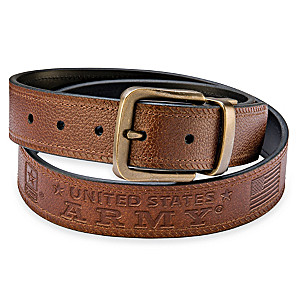 U.S. Army Pride Men's 2-In-1 Reversible Leather Belt