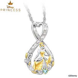 Forever Cinderella Infinity Necklace With Swarovski Crystals