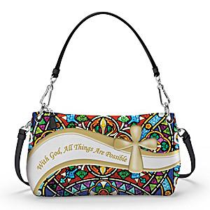 Religious Convertible Handbag Can Be Worn 3 Ways