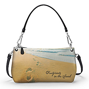 """Footprints In The Sand"" Convertible Handbag: Wear It 3 Ways"
