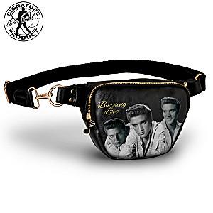 "Elvis Presley ""Burning Love"" Belt Bag With Music Note Charm"