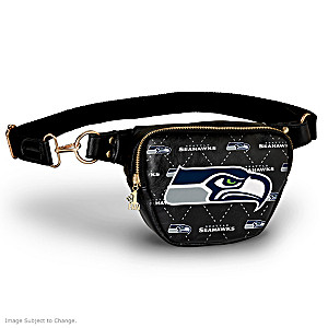 Seahawks Belt Bag With #1 Fan Charm & Adjustable Strap