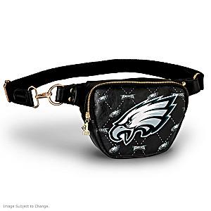 Eagles Belt Bag With #1 Fan Charm & Adjustable Strap