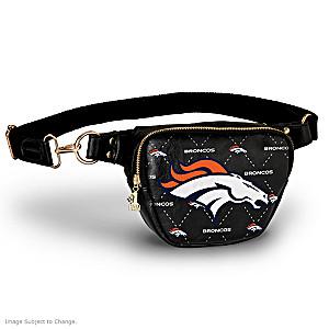 Broncos Belt Bag With #1 Fan Charm & Adjustable Strap