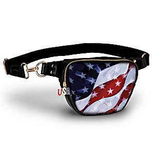 """American Pride"" Belt Bag With USA Zipper Charm"