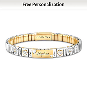 Granddaughter Bracelet With Name And Personality Traits