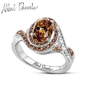 Alfred Durante Mocha Diamond And Cocoa Quartz Ring