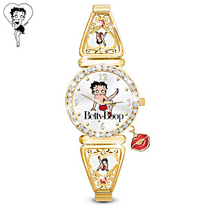 """Betty Boop """"Kick Up Your Heels"""" Watch With Over 40 Crystals"""