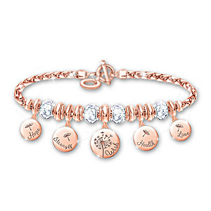"""""""Nature's Healing Wishes"""" Copper Charm Bracelet"""