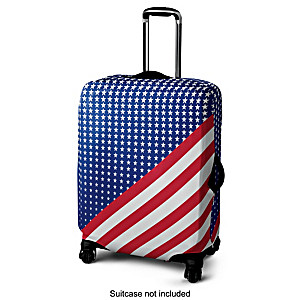 """""""Patriotic Pride"""" Stretchable Easy-Care Suitcase Cover"""