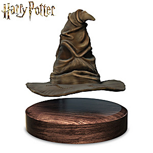 HARRY POTTER Sculptural Sorting Hat Floats And Spins