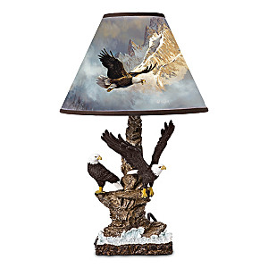"Ted Blaylock ""Nature's Majesty"" Sculpted Eagle Table Lamp"