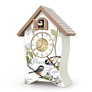 "Robert Hautman ""Garden Blessings"" Birdhouse-Style Clock"