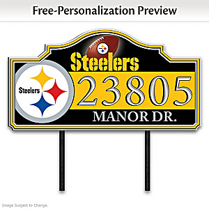 Pittsburgh Steelers Personalized Outdoor Address Sign