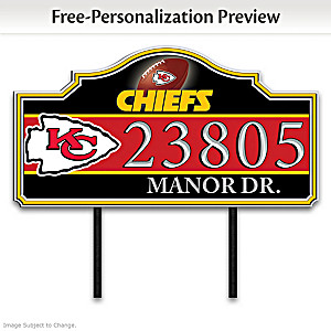 Kansas City Chiefs Personalized Outdoor Address Sign