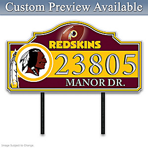 Washington Redskins Personalized Outdoor Address Sign