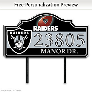 Las Vegas Raiders Personalized Outdoor Address Sign