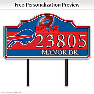 Buffalo Bills Personalized Outdoor Address Sign