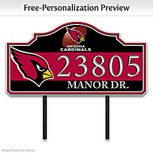 Arizona Cardinals Personalized Outdoor Address Sign