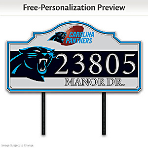 Carolina Panthers Personalized Outdoor Address Sign