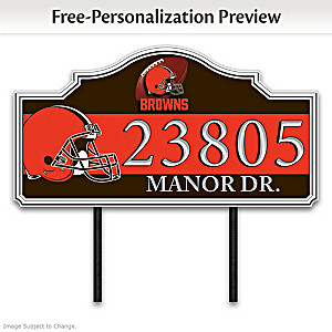 Cleveland Browns Personalized Outdoor Address Sign