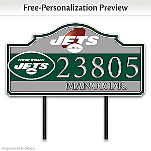 New York Jets Personalized Outdoor Address Sign