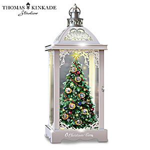 "Thomas Kinkade ""O Christmas Tree"" Musical Lantern"