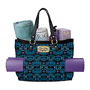 """Peace, Love, Happiness"" Women's Tote Bag And Yoga Mat"