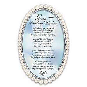 """""""God's Pearls Of Wisdom"""" Faux Pearl-Framed Poem"""