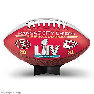 Kansas City Chiefs Super Bowl LIV Leather Football