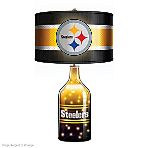 Pittsburgh Steelers Accent Lamp With Illuminated Glass Base