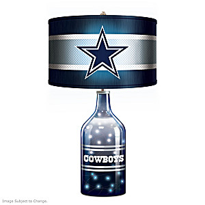 Dallas Cowboys Accent Lamp With Illuminated Glass Base