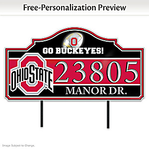 The Ohio State University Outdoor Address Sign