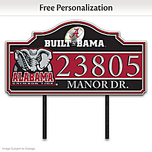 The University of Alabama Outdoor Address Sign