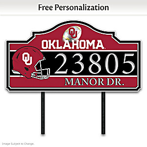 The University Of Oklahoma Outdoor Address Sign