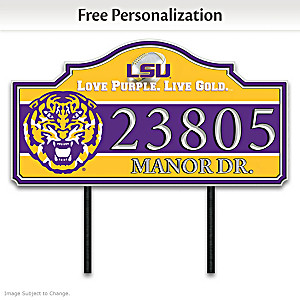 The Louisiana State University Outdoor Address Sign
