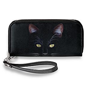 """""""MystiCool"""" Women's Wristlet Wallet With Cat Art"""