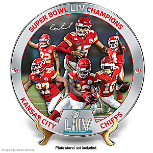 Kansas City Chiefs Super Bowl LIV Commemorative Plate