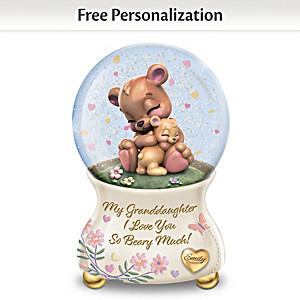 Personalized Musical Glitter Globe For Granddaughter