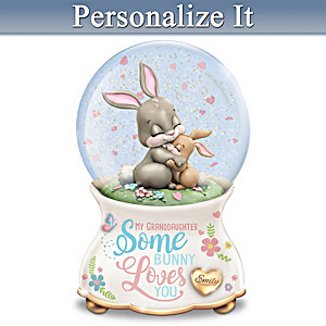 Personalized Musical Glitter Globe For Granddaughter