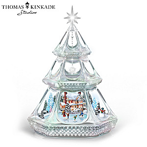 Thomas Kinkade Christmas Tree With Color-Changing Lights