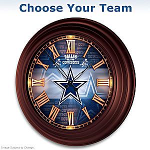 NFL Illuminated Atomic Wall Clock: Choose Your Team