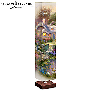 Thomas Kinkade Cottage Floor Lamp With Art On All 4 Sides