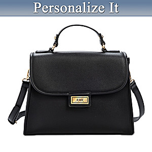 Alfred Durante Elegantly Yours Personalized 2-in-1 Flap Bag