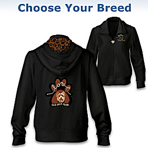 """""""Love Is A Wet Nose"""" Women's Hoodie: Choose Your Breed"""