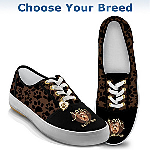 Dog-Themed Women's Canvas Shoes: Choose Your Breed