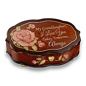 """Love You Always"" Swiss-Inspired Music Box For Granddaughter"