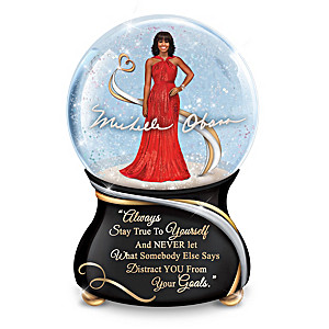 Michelle Obama Inspirational Musical Glitter Globe